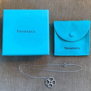 Tiffany & Co. Sterling Silver Four Hearts Necklace